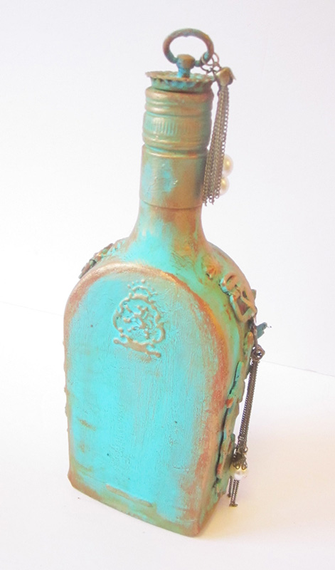 mixed- media-altered-bottle